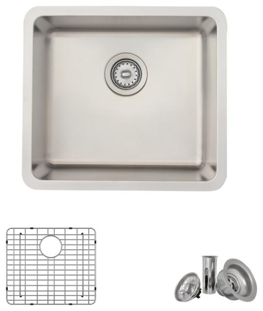 "20"" Undermount  or Drop-in Stainless Steel Single Bowl Kitchen Sink"