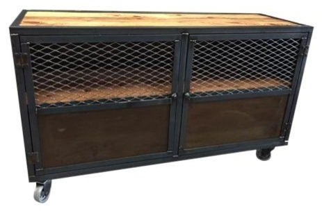 Shop Houzz | DefineModern Vintage Industrial Style Cabinet - Accent Chests And Cabinets