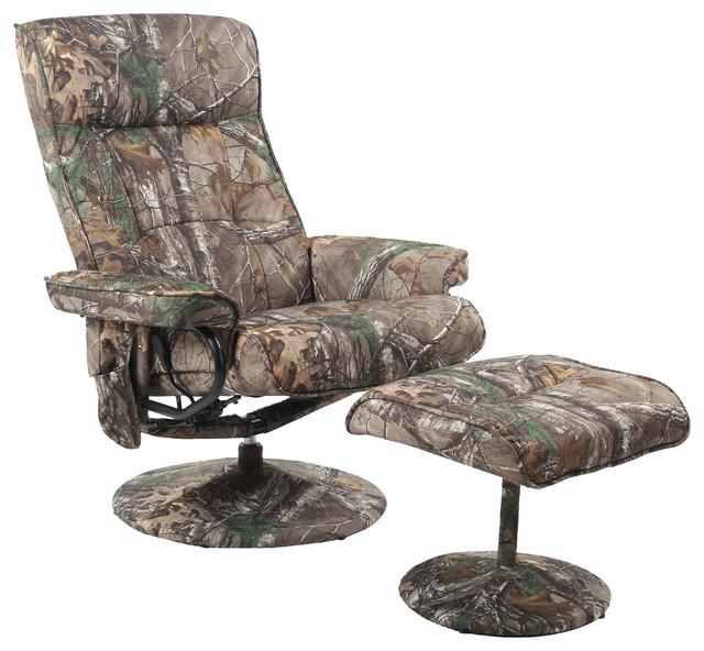 Camo Lift Chair: Xtra Relaxzen 8-Motor Massage Recliner