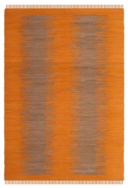 Safavieh Montauk Flatweave Rug, Orange, 8&x27;x10&x27;.