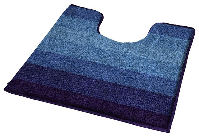 navy blue non slip washable bathroom rug palace view in your room houzz. Black Bedroom Furniture Sets. Home Design Ideas