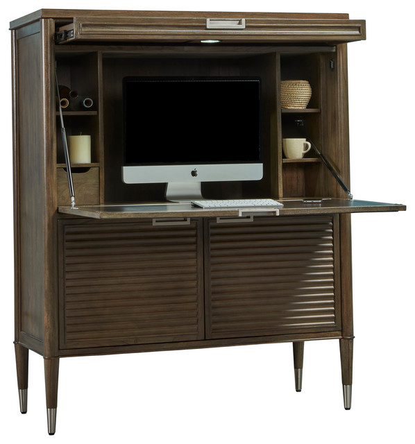Modern nostalgia 44 secretary desk desks and hutches by turnkey products - Modern secretary desk with hutch ...