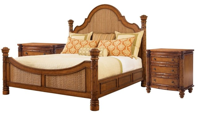 Tommy Bahama Home Island Estate Round Hill 3-Piece Bedroom Set ...