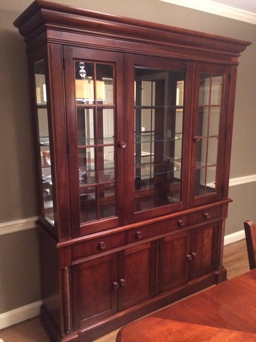 Help me with my dining room! Including how to decorate china cabinet!