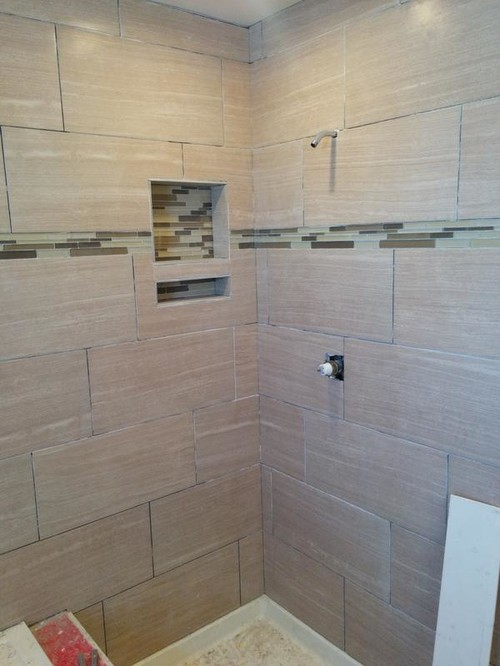 Caulk shower corners a different color than grout lines Different design and colors of tiles