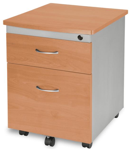 Mobile File Cabinet, Maple.