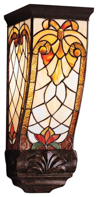 Country Cottage Elmbridge Tiffany Style 15 8221 High Wall Sconce