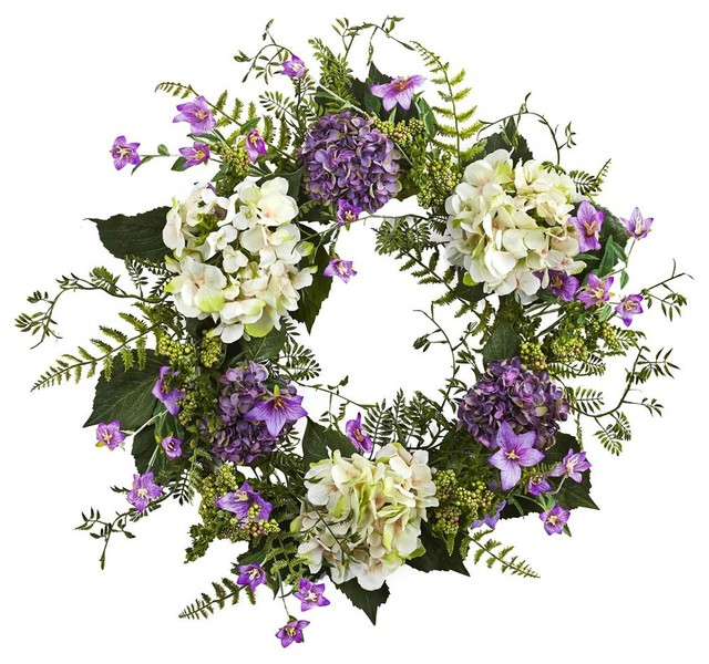 Hydrangea Berry Wreath in Multicolor