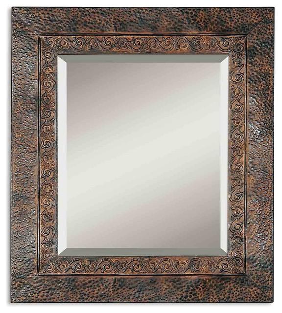 Uttermost Jackson Rustic Metal Mirror.