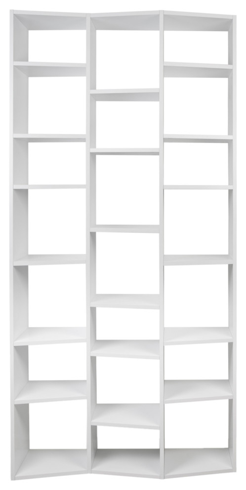 Modern White Unique Cube Display Shelves Contemporary Bookcases By Plush Pod Decor