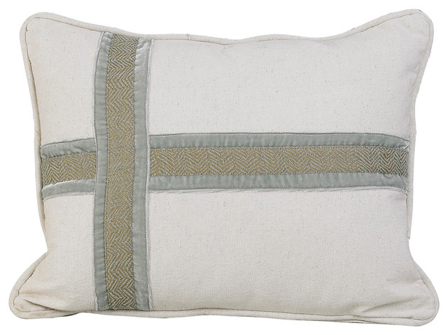Cross Design Pillow - Decorative Pillows - by HiEnd Accents