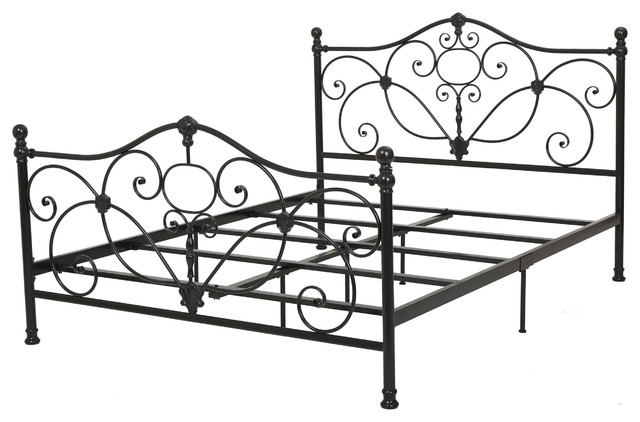 denise austin home san luis queen charcoal iron bed