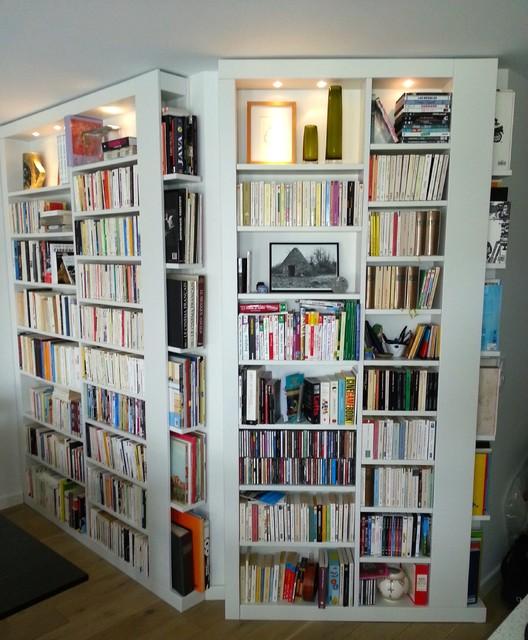 biblioth que sur mesure pour bds et livres poches moderne paris par decoetmatieres. Black Bedroom Furniture Sets. Home Design Ideas