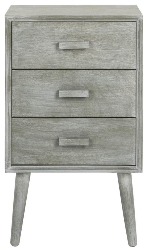Pomona 3-Drawer Chest , Slate and Gray Finish