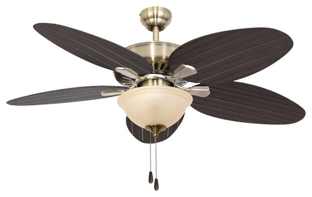 52 Seaside Aged Brass Indoor Ceiling Fan With Remote