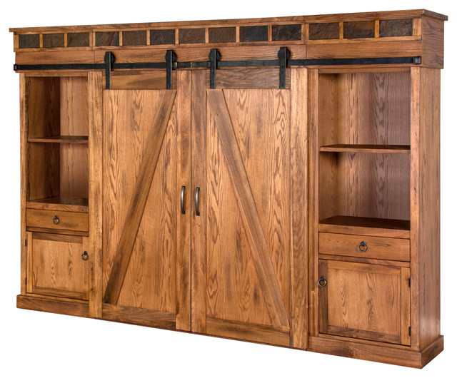 Sedona Barn Door Entertainment Wall Entertainment