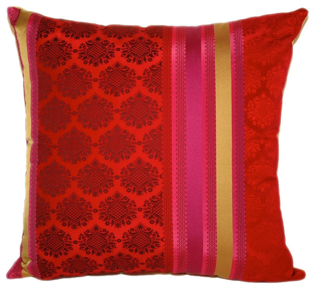 Boudoir Stripe Square Throw Pillow, 20x20 - Contemporary - Decorative Pillows - by Peter Taube Home