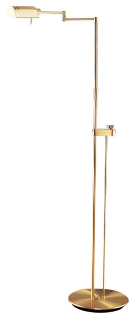 Holtkoetter Chairside Reading Floor Lamp, Brass, 6317sldbb.