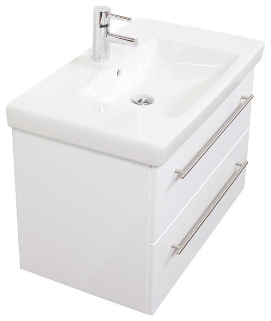 Villeroy and boch subway 2 0 washbasin unit 80 cm contemporary bathroom vanity units sink - Villeroy and boch bathroom cabinets ...