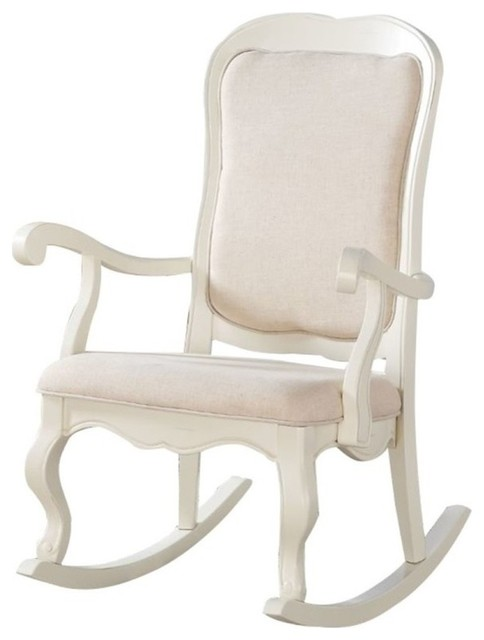 Pemberly Row Rocking Chair Antique White