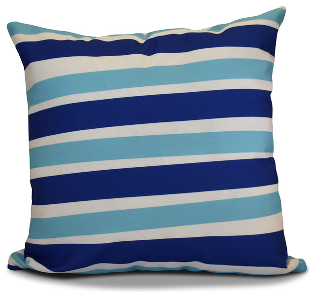 Royal Blue Outdoor Throw Pillows : E by Design - Decorative Outdoor Holiday Pillow - View in Your Room! Houzz