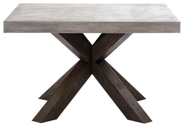 modrest urban concrete square dining table industrial dining tables - Square Dining Table