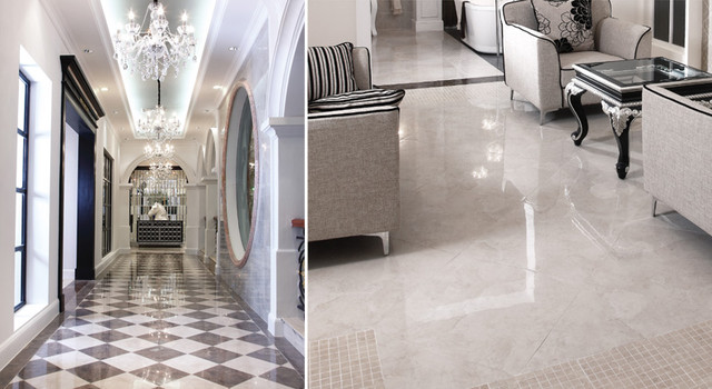 Eleganza Tiles Perlato Polished Porcelain Tile Modern