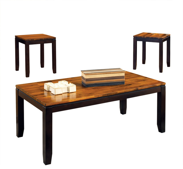 Houzz Black Coffee Table: Abaco 3-Piece Table Set