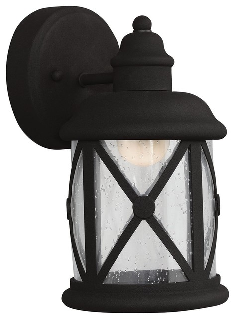 Lakeview 1-Light Outdoor Wall Lights, Black.