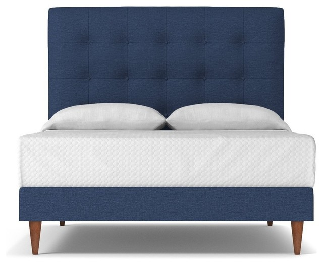 Palmer Drive Upholstered Bed, Blue Jean, California King.