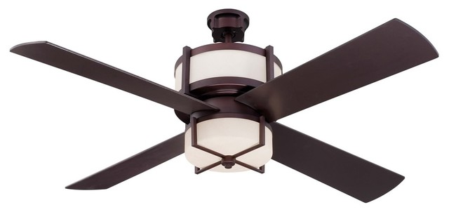 "Craftmade 56"" Midoro Ceiling Fan, Oiled Bronze."