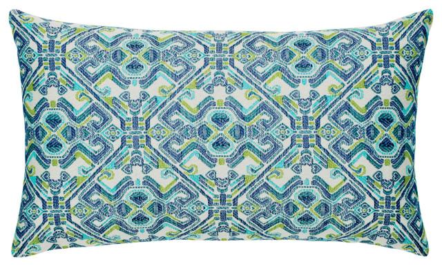 Elaine Smith Delphi Lumbar Pillow Contemporary Outdoor Cushions And Pillows