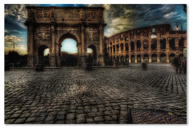 &x27;one Evening In Rome&x27; Canvas Art By Erik Brede. -1