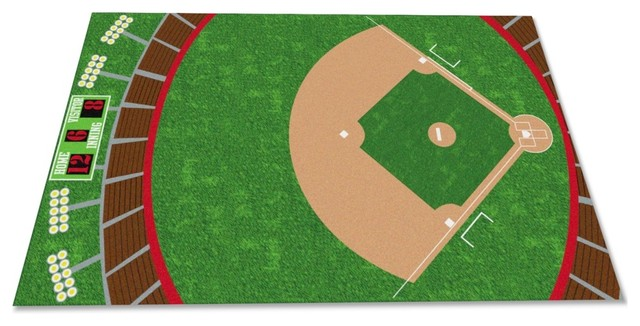 Kidcarpet Baseball Field Rug Kids Rugs Houzz