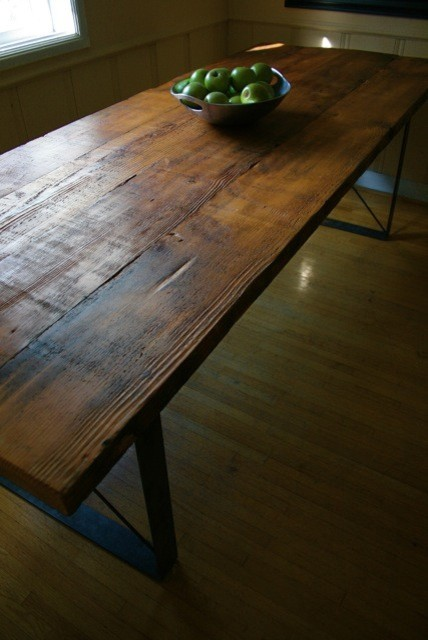 Beautiful Handmade Table And Benches Reclaimed From By Robrray Dining Room