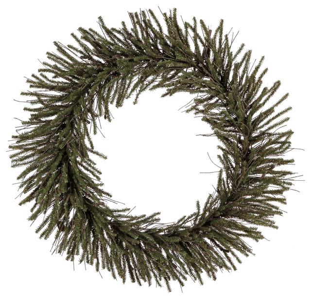 """Vickerman 36"""" Vienna Twig Artificial Christmas Wreath Unlit."""