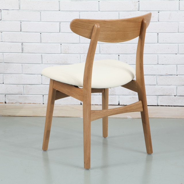 Astrid Solid Oak Dining Chair   Cream Top Grain Leather Seat midcentury  dining chairsAstrid Solid Oak Dining Chair   Cream Top Grain Leather Seat. Oak Dining Chairs With Cream Leather Seats. Home Design Ideas