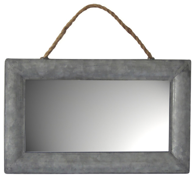 Galvanized Metal Wall Mirror
