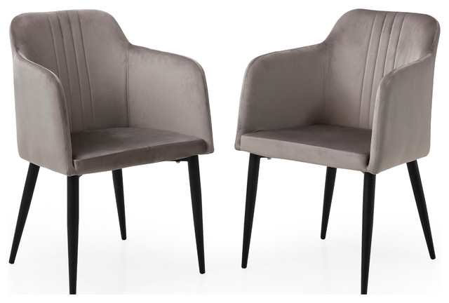 Excellent Modern Jason Living Room Accent And Dining Arm Chair Set Of 2 Grey Uwap Interior Chair Design Uwaporg