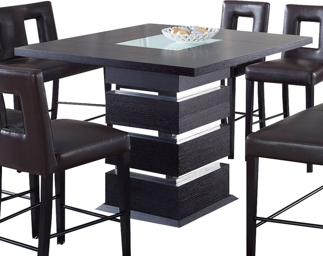 global furniture usa g072bt square bar table in wedge