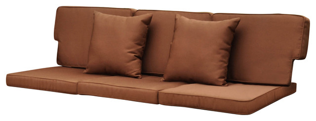 Excellent Valencia Corded Replacement Cushions Valencia Sofa Set Of 8 Dark Chocolate Ibusinesslaw Wood Chair Design Ideas Ibusinesslaworg