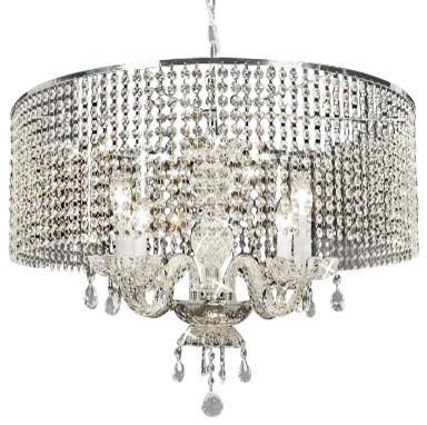 Crystal Chandelier With Large Crystal Shades