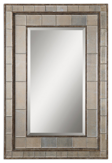 "Art Deco Wall Mirror marius"" art deco layered wall mirror - transitional - wall mirrors"