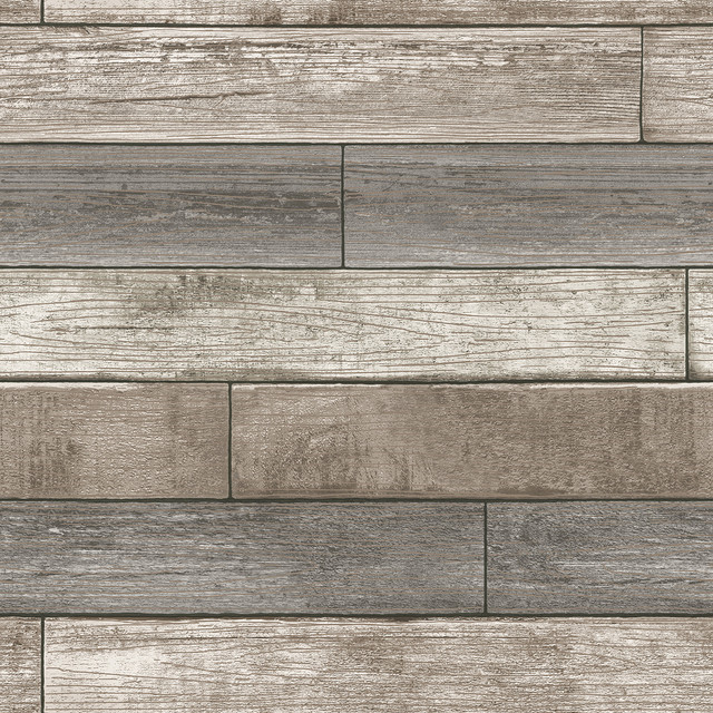 Reclaimed Wood Plank Natural Peel And Stick Wallpaper, Neutral, Bolt.
