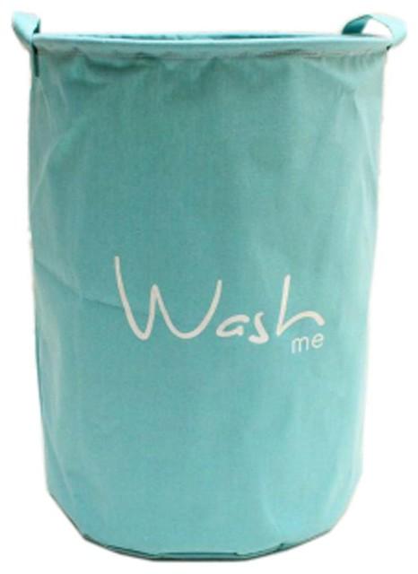 Fresh Color Large Laundry Basket Hamper Storage Wash, Sky Blue.