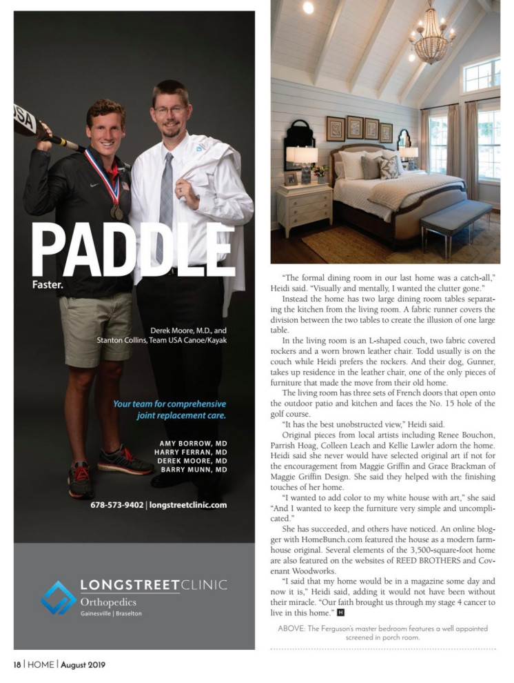 HOME Magazine feature August 2019
