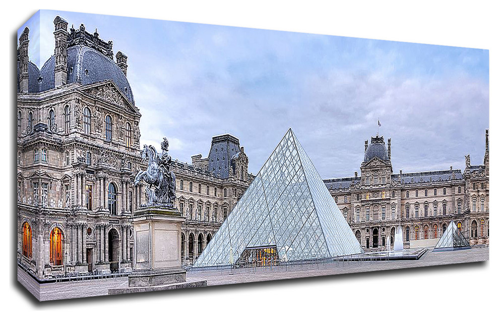 Louve Vista Du Matin No 1 By Alan Blaustein Print On Canvas Contemporary Prints And Posters By Tangletown Fine Art