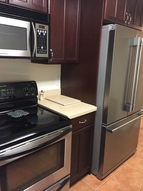 Counter depth refrigerator still too big