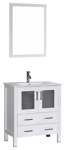 30 Bosconi Single Vanity, White.