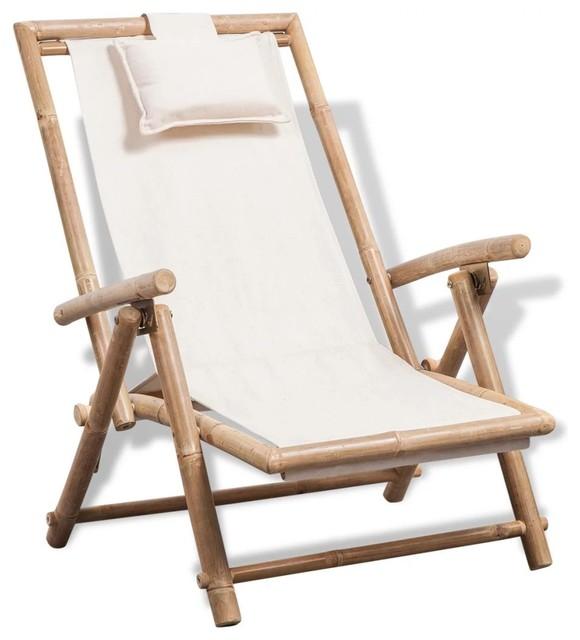 Stupendous Vidaxl Deck Chair Bamboo Folding Patio Garden Outdoor Sunlounger Recliner Creativecarmelina Interior Chair Design Creativecarmelinacom